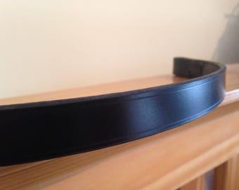 "Plain Handmade English Leather Hunter Browband 3/4"" - Pony, Cob, Full"