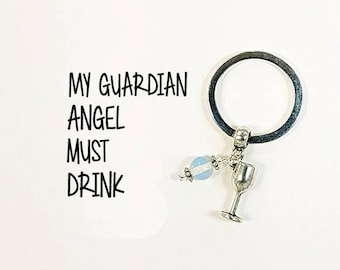 Friendship Key chain - Girlfriends key ring with Guardian Angel Card -  Best Friends - Thank you for being such a good friend - SCC1002