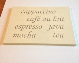 "Coffee 10""x14"" wall canvas"