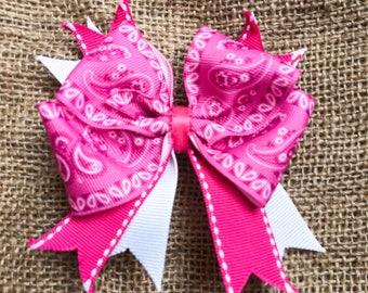 The Pink Bandana Bow