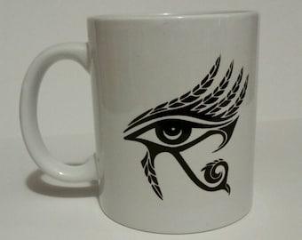 The eye , coffee mug, .