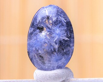 Dumortierite in Quartz ~ Crystal Mineral Specimen ~ Rare & Beautiful 7.4CT Natural Clear Blue  ~ Expression ~ Chakra ~ Meditation ~ Aura