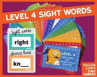 VIPKid Level 4 Sight Words and Phonics Focus
