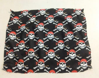 Skulls with knives fabric 250139