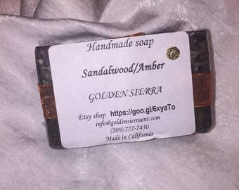Handmade soap Bar Sandalwood/Amber