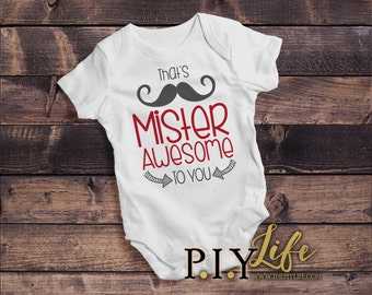Kids   Mister Awesome to You Kids Bodysuit DTG Printing on Demand