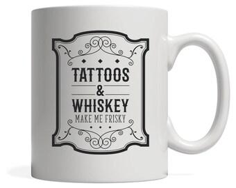 Mug blanc, cadeau de tatouage, 11oz ou tasse 15oz blanc, Funny tatouage Mug, Mug personnalisé, cadeau d'anniversaire, cadeau de Noël, tasse de café de tatouage