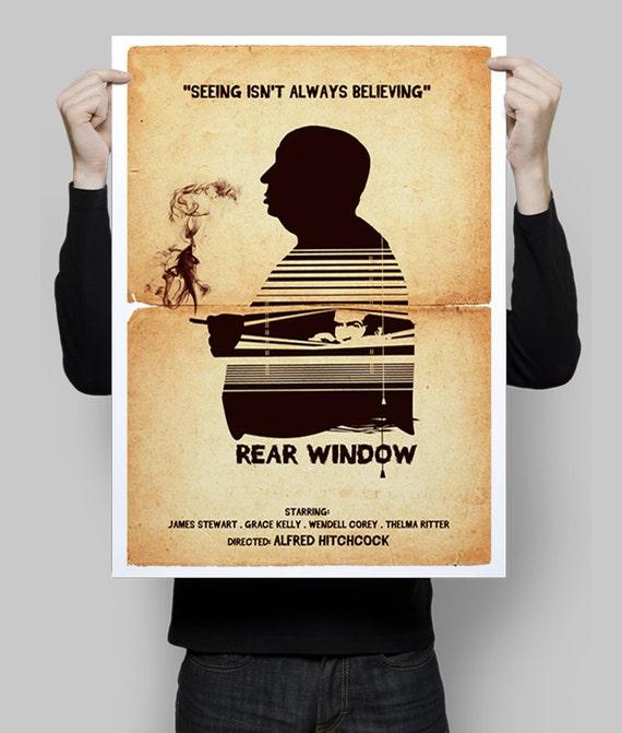 Alternative Rear window movie poster art print alfred