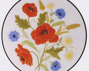 Summer Time- a Crewel Embroidery kit