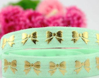 MINT bow / elastic / Headband width 15mm, cut 50 cm