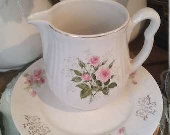 Vintage Cottage Prairie Pitcher Roses
