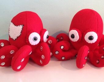 Ohio Scarlet and Grey Octopus Stuffed Animal Plush