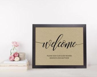 Wedding Sign Template | Guestbook Sign | Wedding Sign | Printable Wedding Sign | 5x7 & 8x10 | EDN 5408