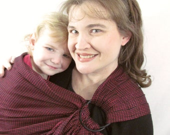 Woven Ring Sling, Baby sling, Baby Carrier, Cotton - Handloomed//  - baby sling, baby carrier- DVD included - super support/ Ready to Ship