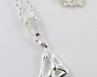 Contemporary Dancer Charm Necklace 50cm Silver Plate Chain