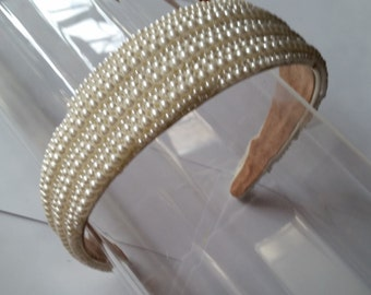 Ivory Pearl Headband, for Bridal, weddings, parties, special occasions