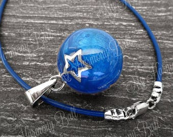 Harmony Ball Necklace/Bola Ball/Angel Caller Chime Necklace/Maternity Chime Ball/Blue Bola Bell/Celestial Bola Ball/Maternity Gift/Mom to Be