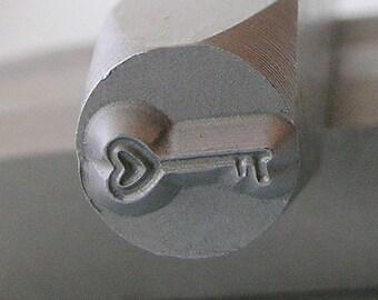 Metal Steel Stamps HEART KEY Metal Design Stamp Jewelry Stamping -Metal Stamping Supplies