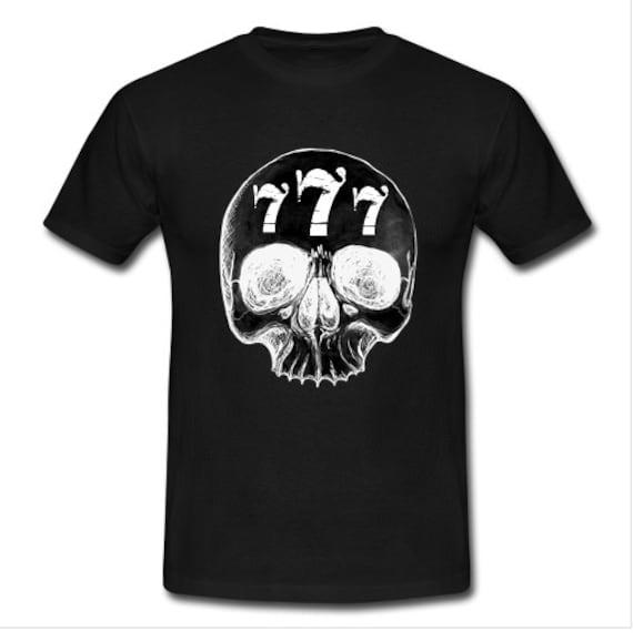 Lucky Seven skull T shirt