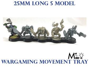 Warhammer 40000 Warhammer 40K 25mm Base 5 Model Movement Tray for Ork Tau Tyranids Eldar Wargaming Tabletop miniature wargaming