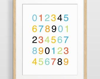 Nursery Decor, Counting Poster, Typography Art, Nursery Print, Kids Wall Art, Gender Neutral