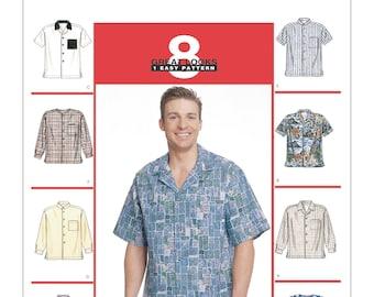 McCalls Sewing Pattern 2149, Mens Button Down Shirt, Hawaiian Shirt, New Uncut Pattern