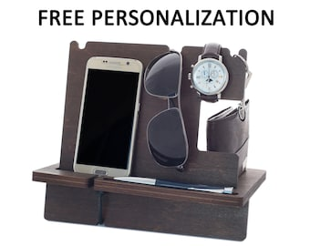 Charging Station, Christmas Gifts for Him, Dad Birthday Gifts, Anniversary Gift for Boyfriend, Husband Christmas Gifts Dad, Docking Station