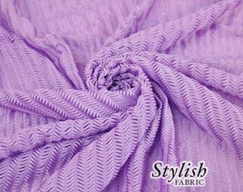 Lavender Arrowhead Stretch Knit Fabric  - 1 Yard Style 6019