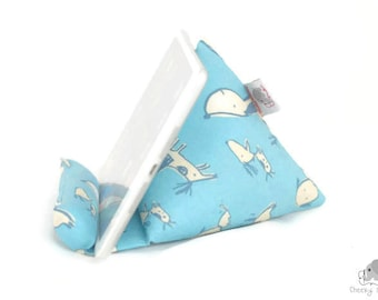 iPad stand, tablet stand, Kindle stand from fabric, iPad cushion stand, tablet cushion stand, Kindle cushion stand, iPad pillow - gift idea