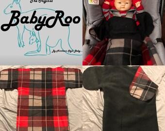 Red Plaid BabyRoo XL Car Seat Pouch