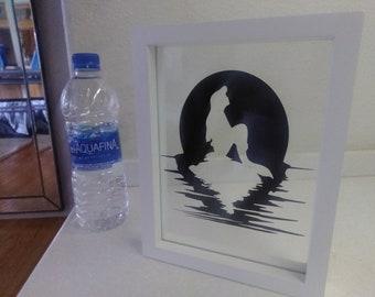 Disney inspired floating artwork