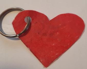 Handmade Loveheart Keychain