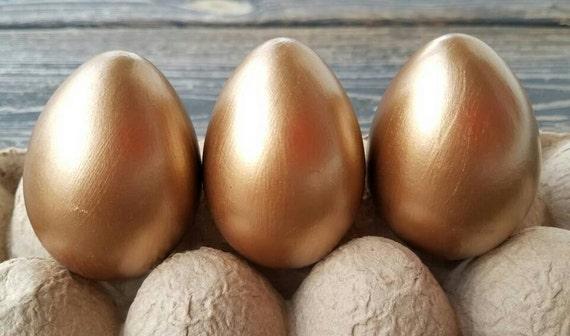 Decorative Easter Eggs, Easter Eggs, Metallic Eggs, Metal Leaf Eggs, Brass Eggs
