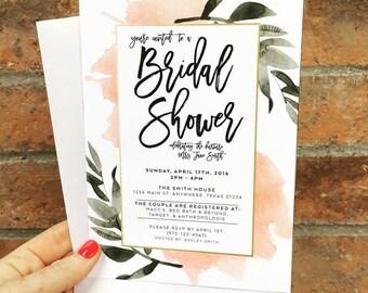 The Delilah - Botanical Bridal Shower Invites