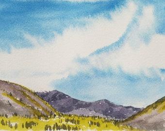 36/100 Watercolor Landscape | Original Watercolor | Watercolor Landscape | Painting | Landscape Painting