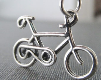 Bicycle Charm Necklace, Silver Biking Charm, Bicycle Lovers Gifts, Gifts For Cyclist, Biking Lovers, Bike Riders Necklace, Mountain Biking