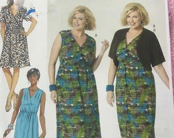 NEW B5764 pattern Women's dresses & shrug sizes 18W, 20W, 22W, 24W