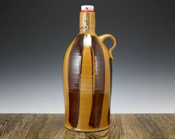 64 oz Beer Growler a ceramic stoneware growler for craft beer lovers | Great gift for him!