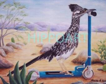 Southwest Desert ROADRUNNER GREETING CARD