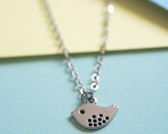 Bird Necklace - cute tweety bird necklace - bird pendant
