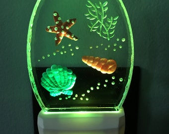 Color Changing Seashell Night light
