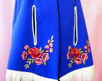 Wool cape, Women cape, Gift for Her, Plus Size, Blue cape, Vintage style, Handmade