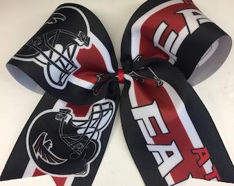 Atlanta Falcons, Girls Large, Hair Bow, Custom Boutique, Football Fans, Ribbons Clips, Teen Tween, Game Day, Kids Gift, Fall Sports, Georgia