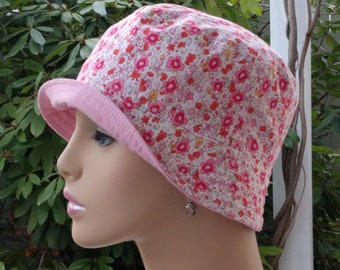 Chemo Hats Cancer Caps Bucket Hat Alopecia Hats Cancer Hats Reversible. Made in the USA. SMALL-MEDIUM