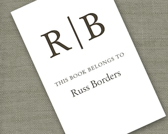 Personalized Bookplates....24qty...Choose your color...Monogram