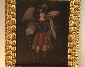 Ca. 1890 Painting of Saint Michael