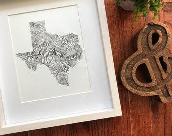 Texas | Unframed Print