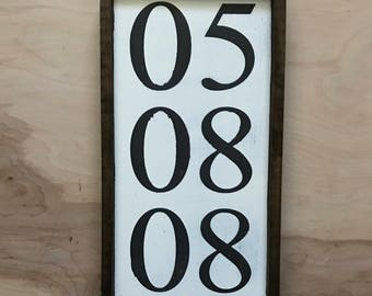 Special Date Sign