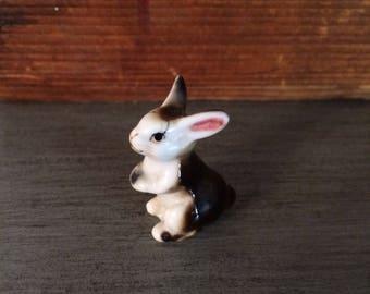 Japanese Bone China Brown Bunny Rabbit Figurune