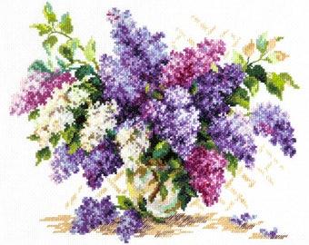Cross Stitch Kit Lilac